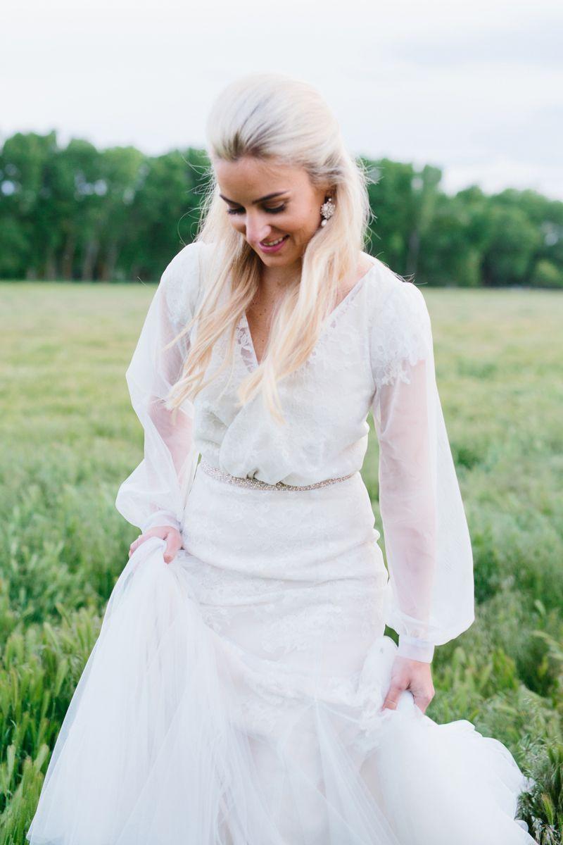 26c805023fa bishop sleeve modest wedding dress
