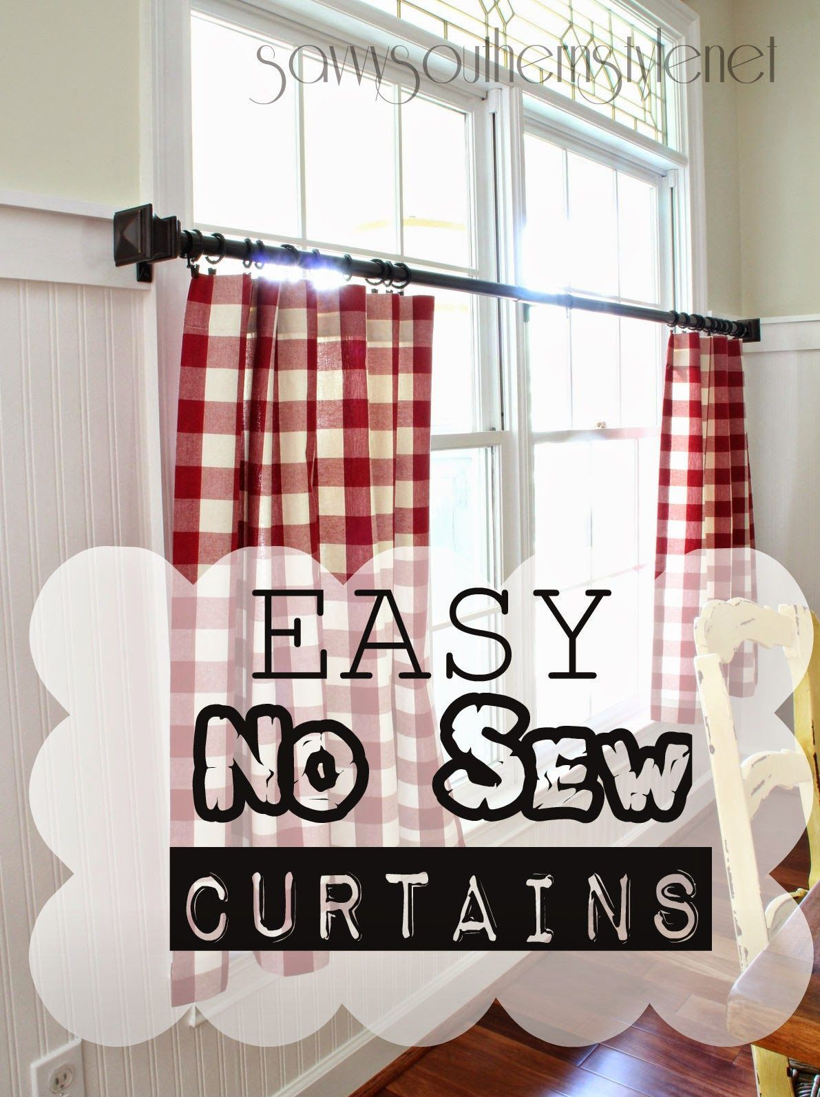 Shabby Chic Farmhouse Kitchen Curtains