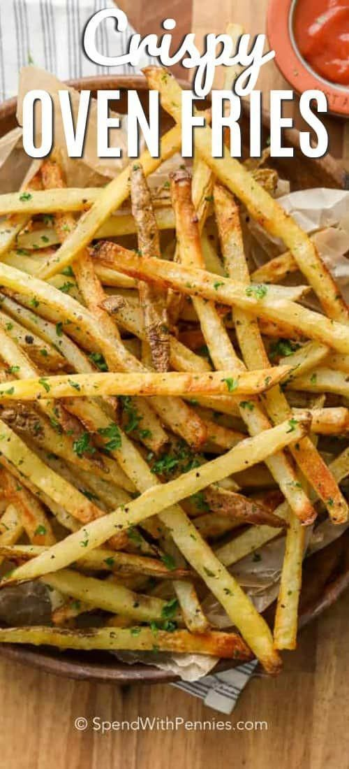 These oven baked french fries are my daughter's favortie. Homemade fries are an easy, healthier alte...
