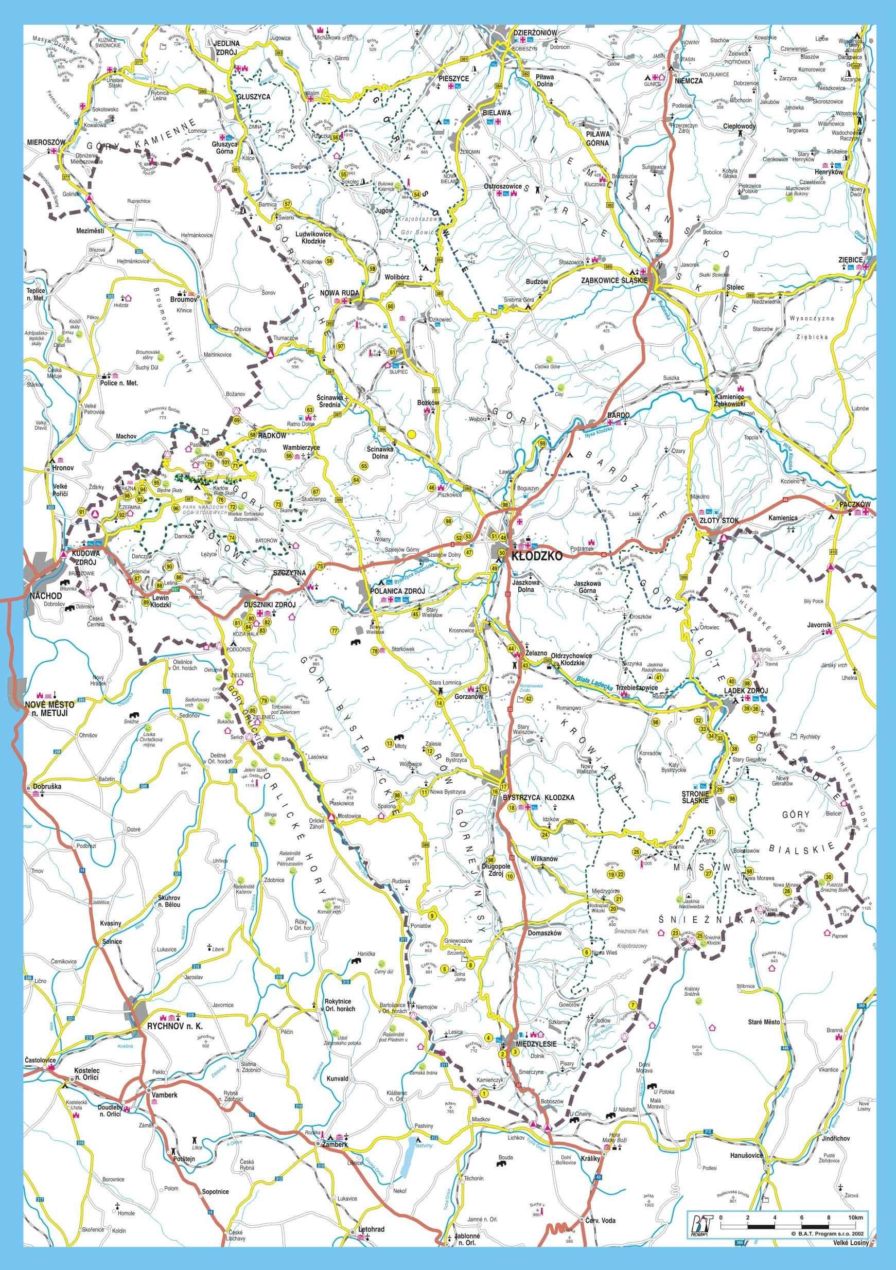 Ziemia Klodzka Mapa 101 Atrakcji Turystycznych Turystyka Mapa