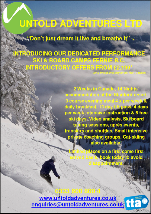 Check out our new Ski & Board improvement & performance camps in Fernie BC. Great introductory offers contact us now. #fernie #ferniestoke #ski