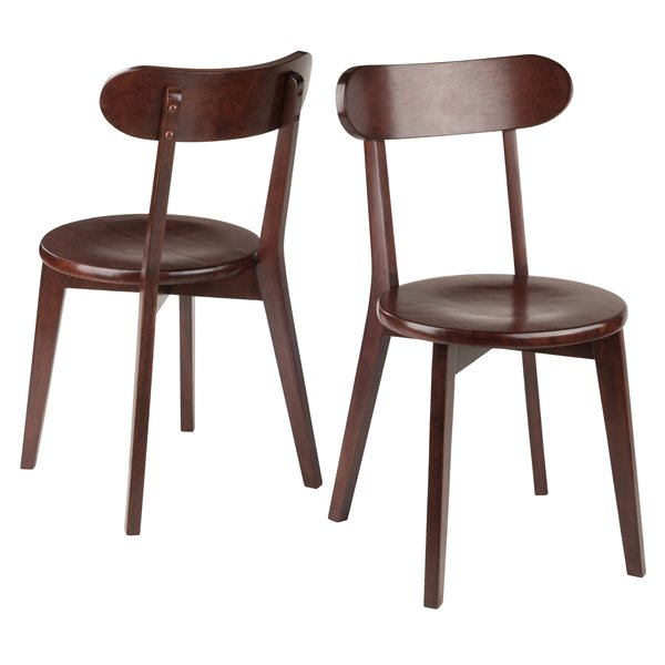 Winsome Wood Pauline 17 32 In Walnut Dining Chair Set Of 2