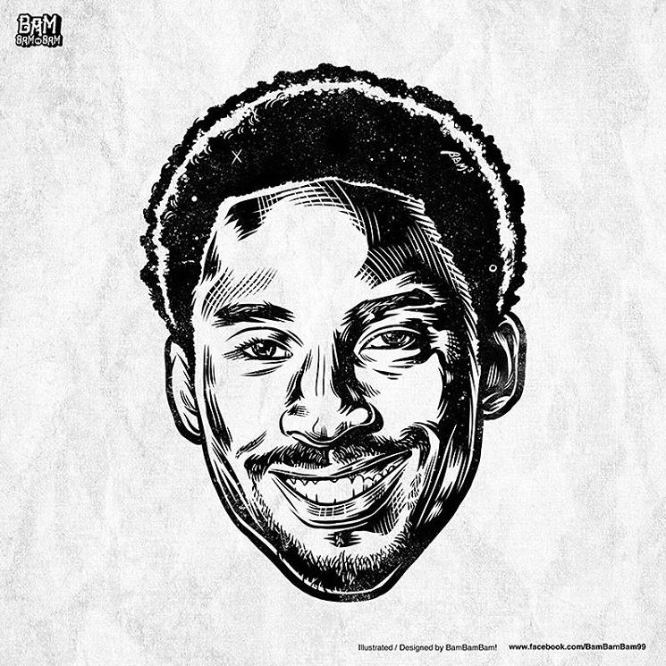 Kobe Bryant 'Noir et Blanc' Portrait II Kobe bryant
