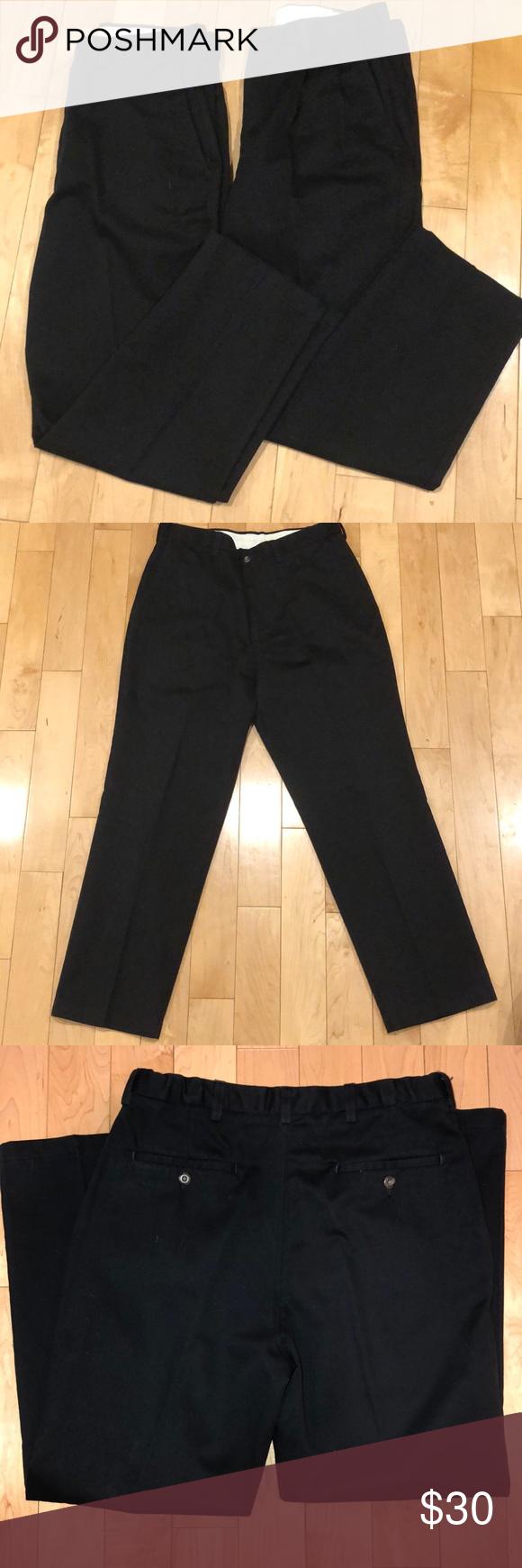 2 Pairs Of Men S Black Dress Work Pants 34x30 Dresses For Work Work Pants Mens Black Dress [ 1740 x 580 Pixel ]