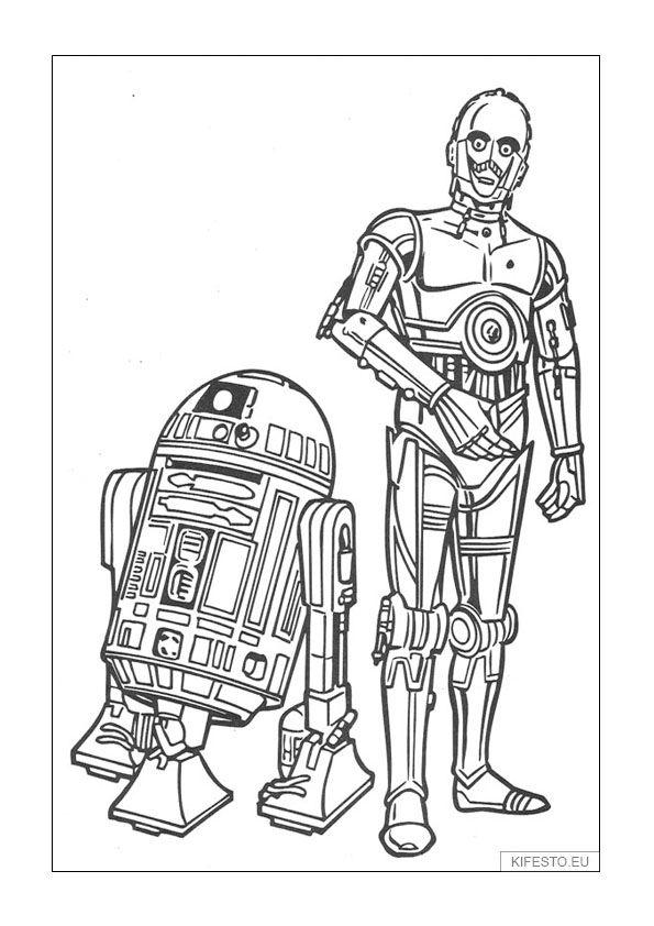 Csillagok háborúja kifestők és színezők. Star Wars nyomtatható ...