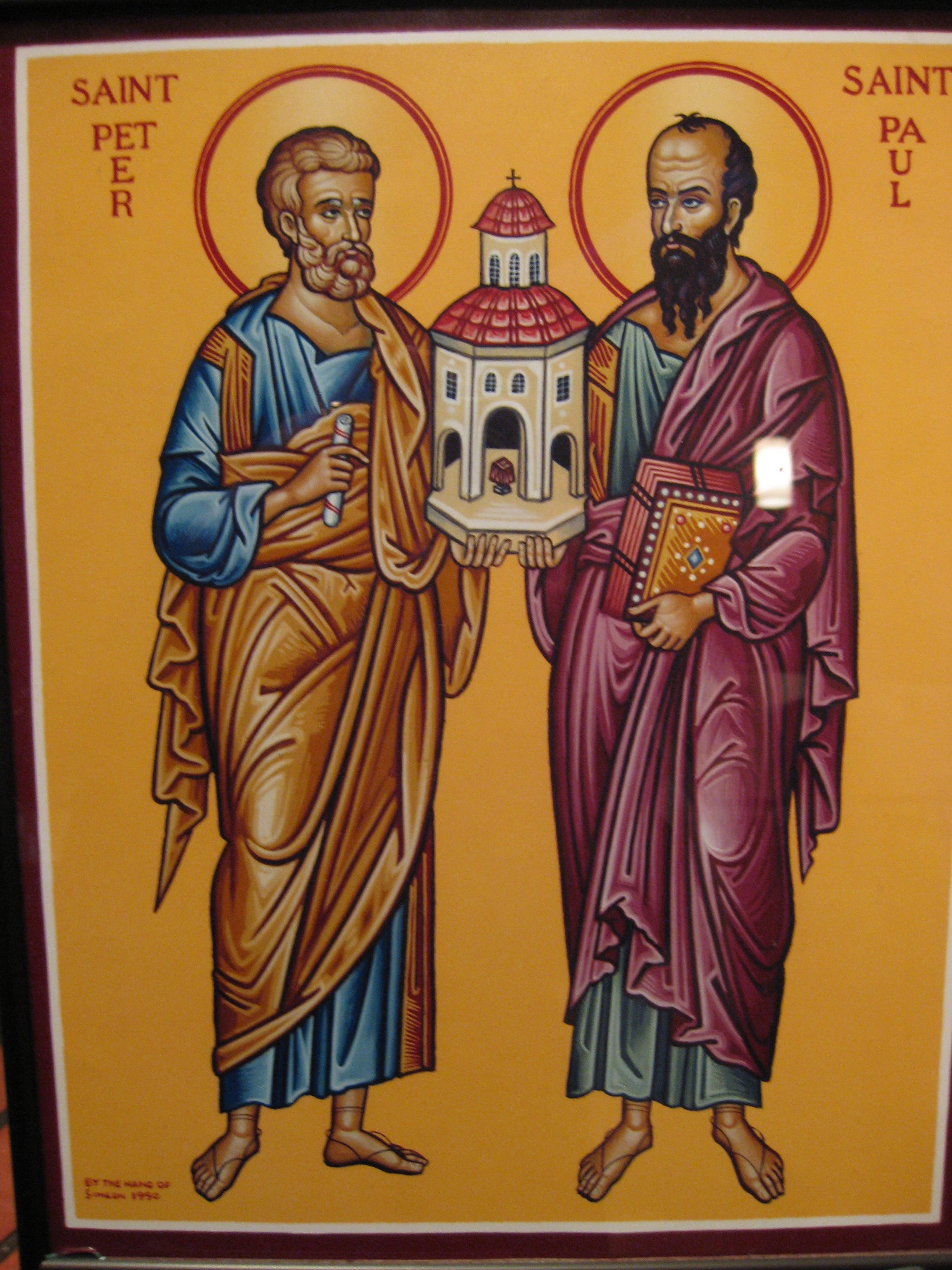 St.Peter and St.Paul icon Icons & Relics Pinterest Icons