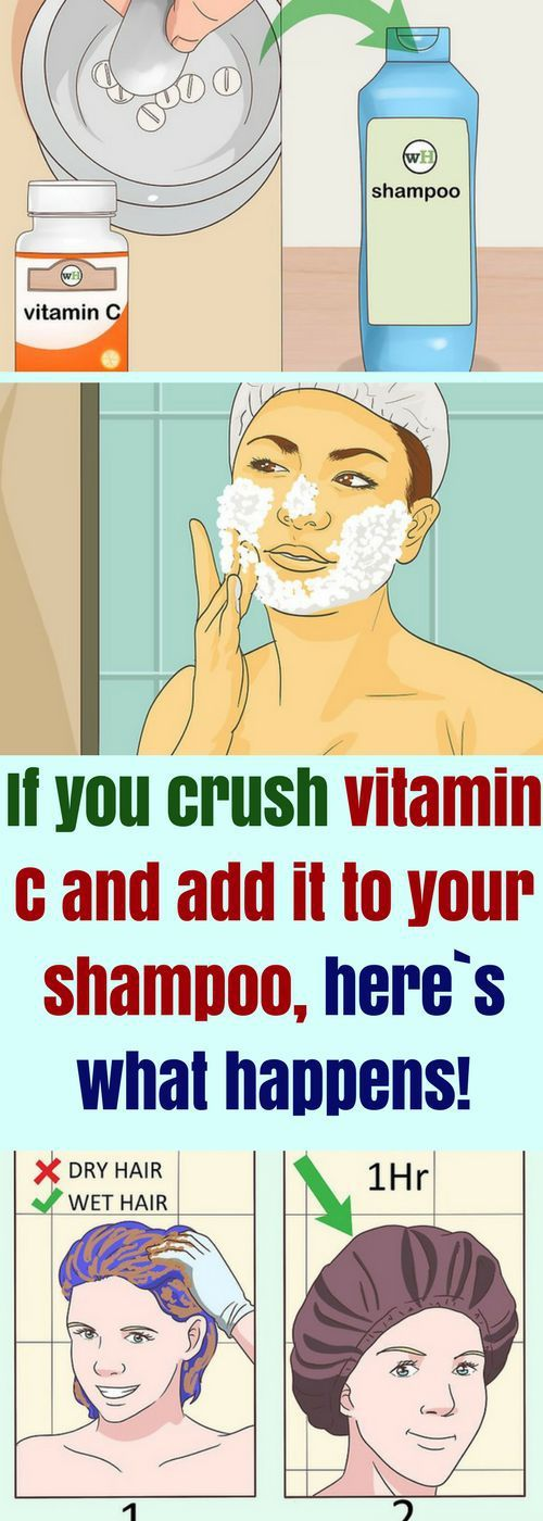 If You Crush Vitamin C & Add It To Your Shampoo, Here`s