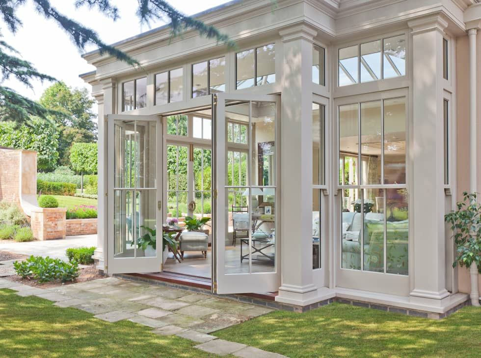 Orangery With Bi Fold Doors Classic Style Conservatory By Vale Garden Houses Classic Homify House Exterior Sunroom Designs House Design