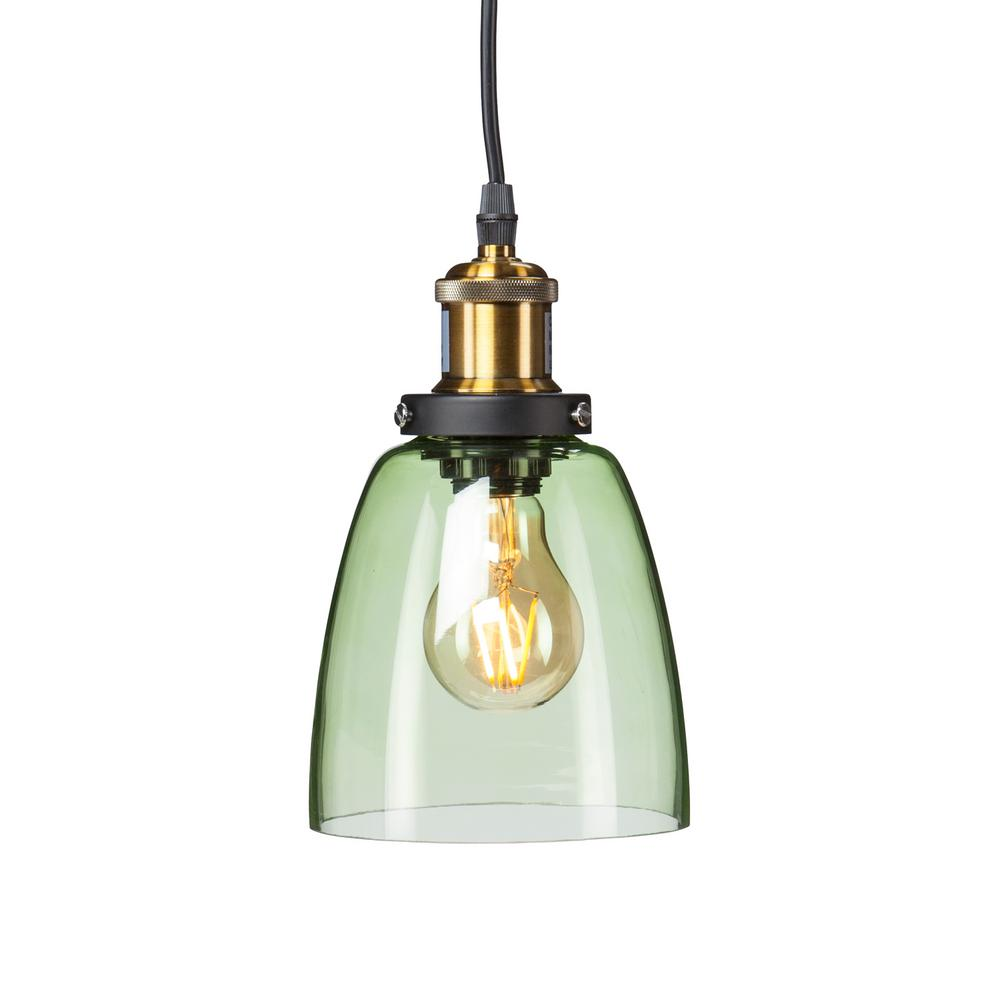Bailey 1 Light Spring Green Colored Glass Mini Pendant Lamp Hd88296 The Home Depot Black Pendant Lamp Green Pendant Light Mini Pendant Lights