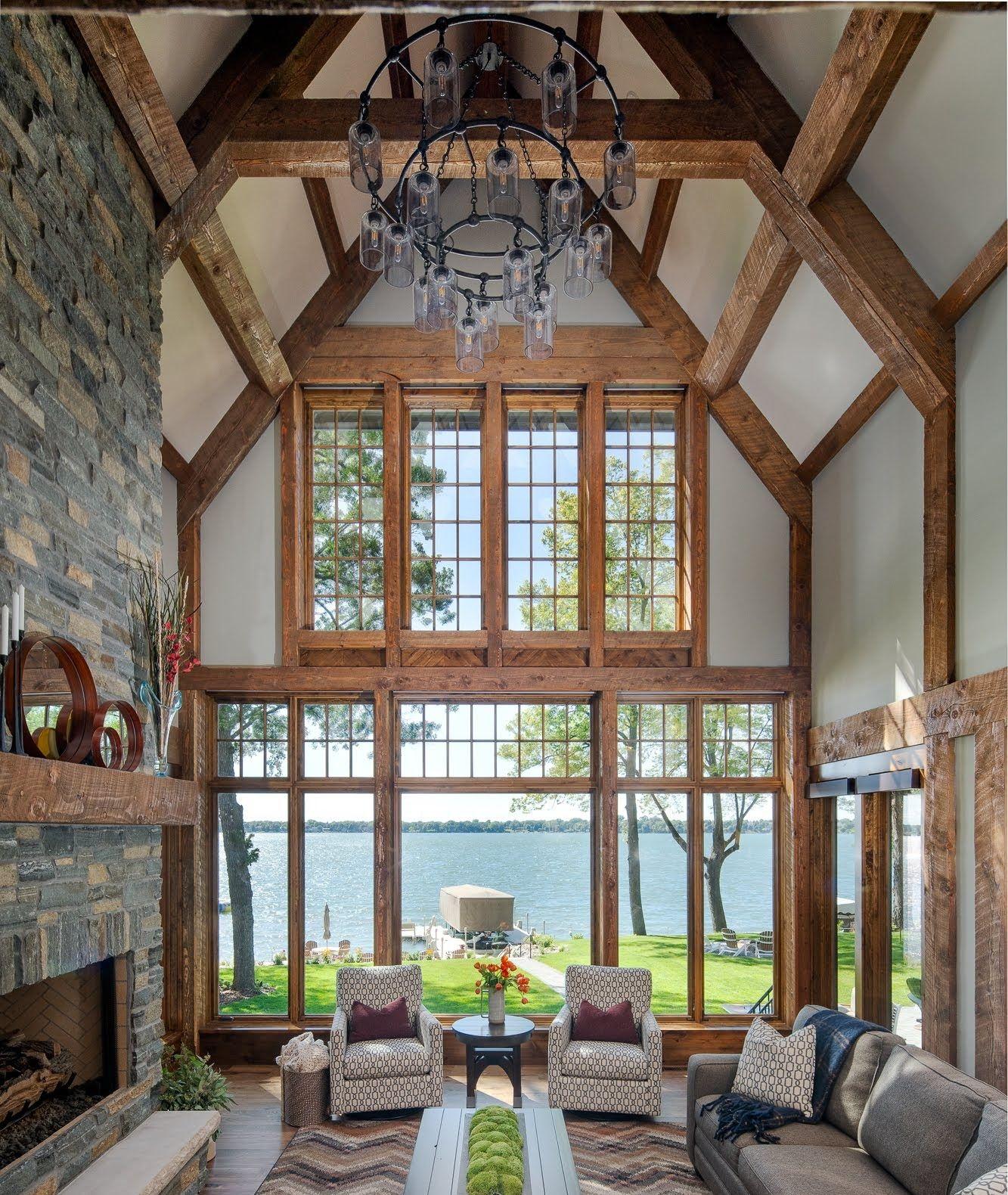 Lake Home Interior Design Living Room Minnesota Modern Mountain Home Mountain Modern Design Builder