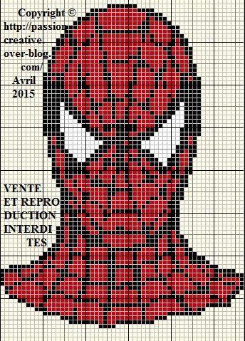 Grille gratuite point de croix spiderman point de croix enfant pinterest spiderman - Grille point croix gratuite ...