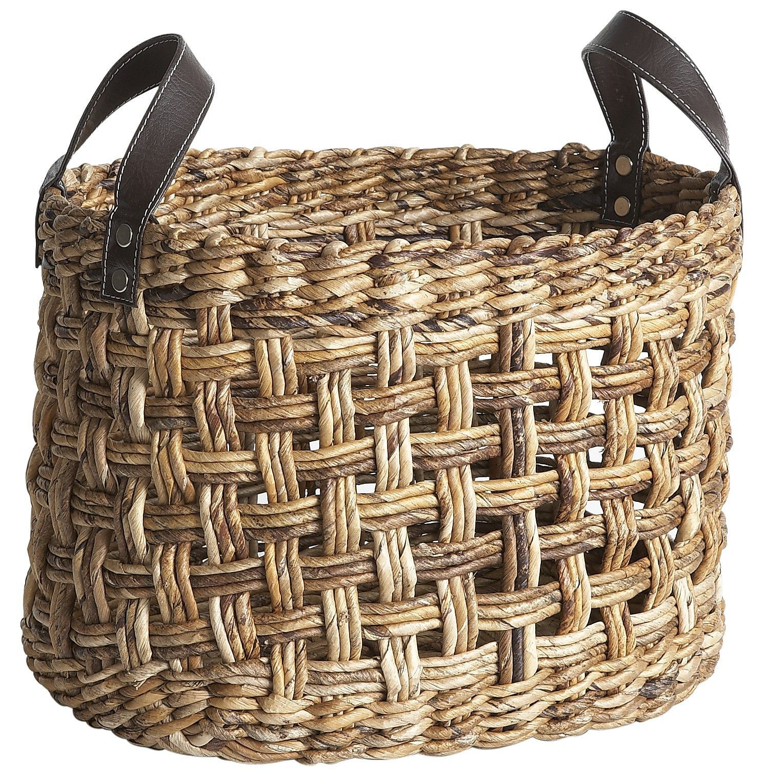 Basket Weaving With Leaves : For ficus banana leaf plaid weave basket living room