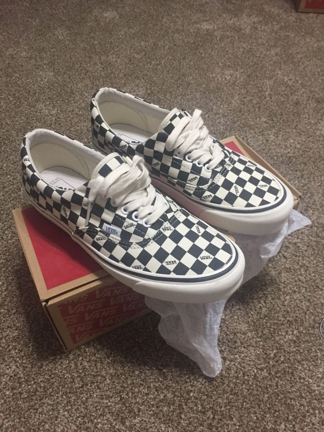 16da6c32735e Vans Vans Era Lx Checkerboard Size 10  600 - Grailed