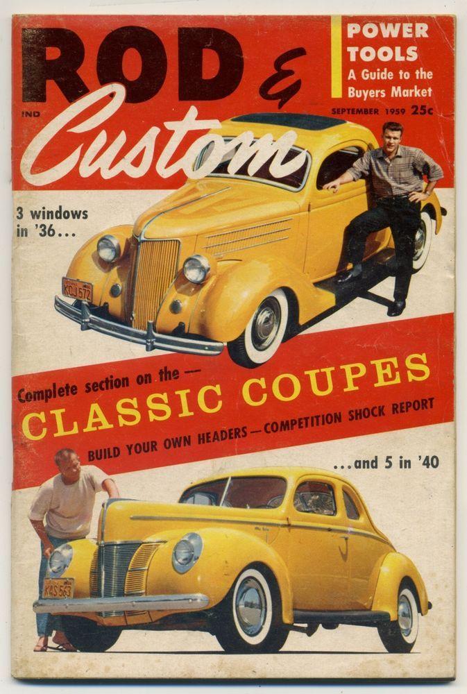 rod & custom magazine vtg September 1959 hot rod drag race GO Kart ...