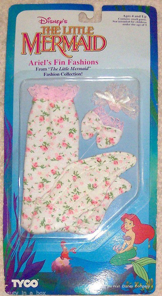 Ariel's Fin Fashion for Ariel Tyco Disney Doll Little Mermaid Pink Roses Flannel ~ Cute!