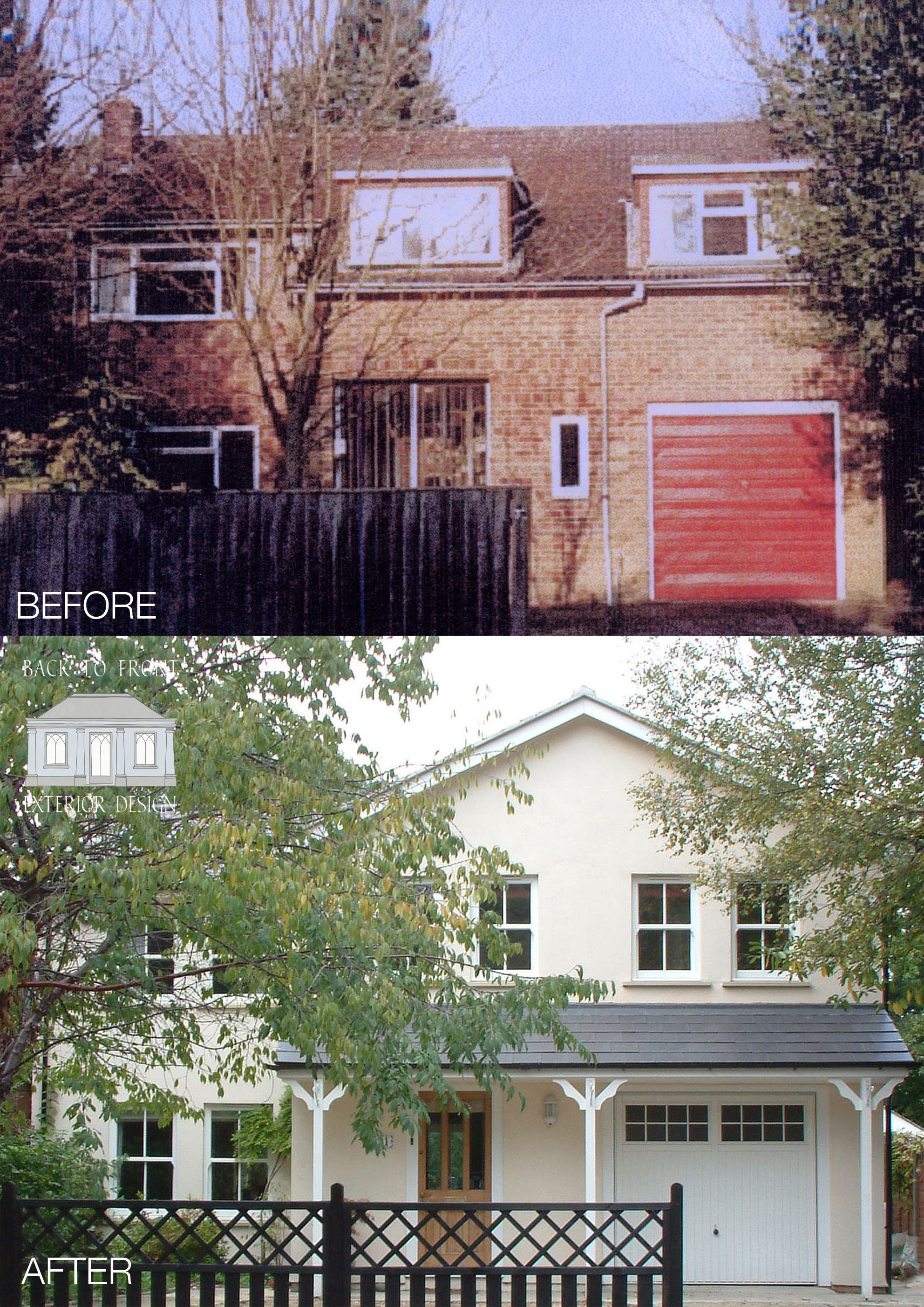 Remodelled exterior for this previously unattractive home. by Back ...