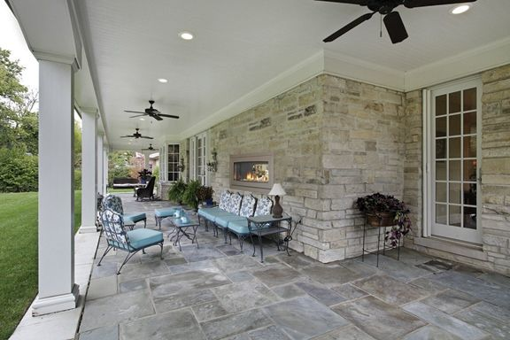 fireplace indoor outdoor | Two Sided Fireplace – indoor / outdoor ...