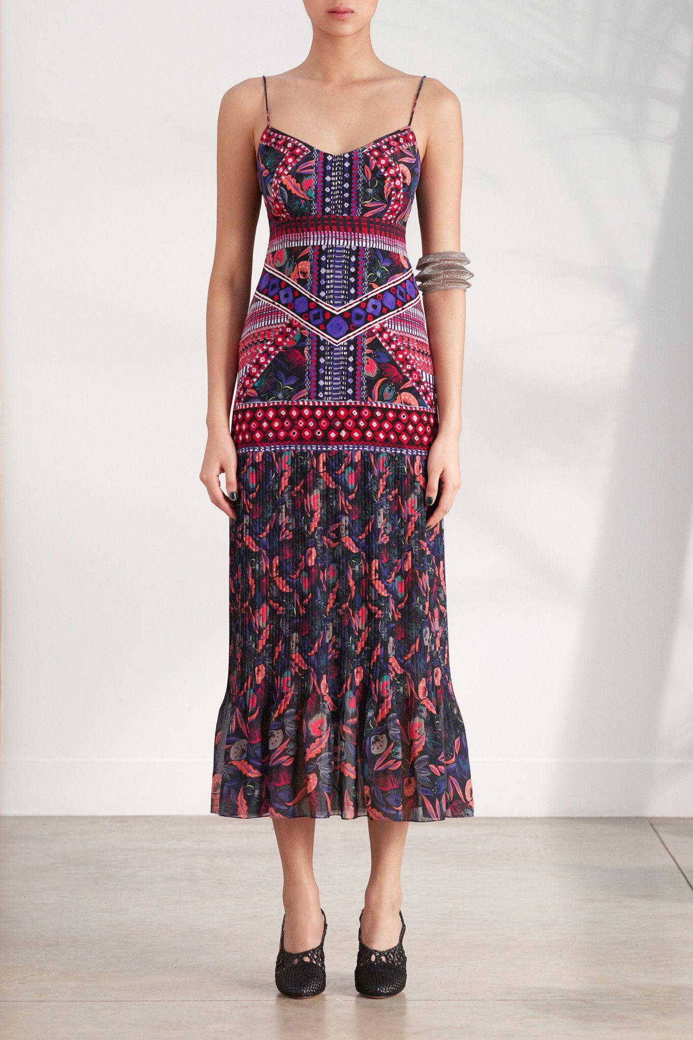 Veronica Bandhani Midi Dress