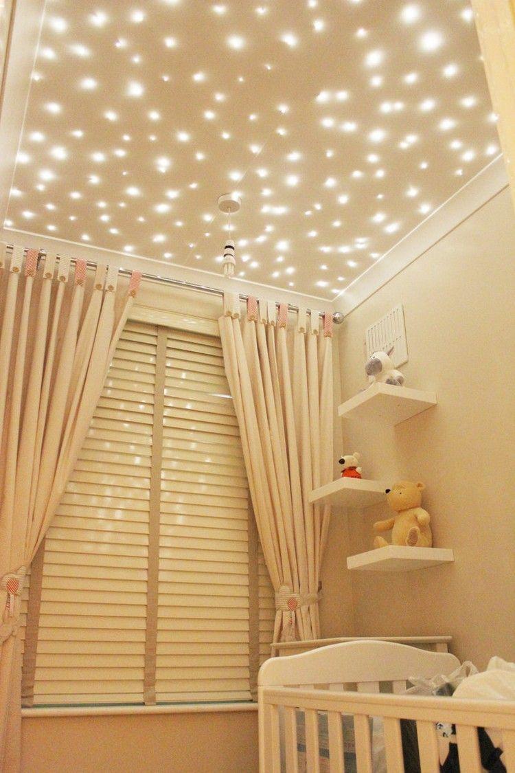 Sternenhimmel Als Beleuchtung Fur Ein Schones Kinderzimmer Kinder Zimmer Haus Deko Deckenbeleuchtung