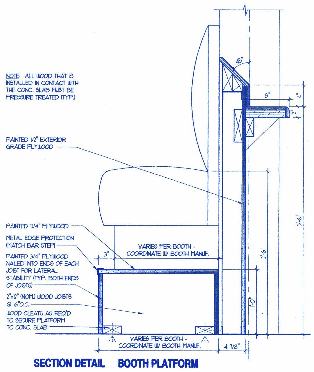 bar height booth platform