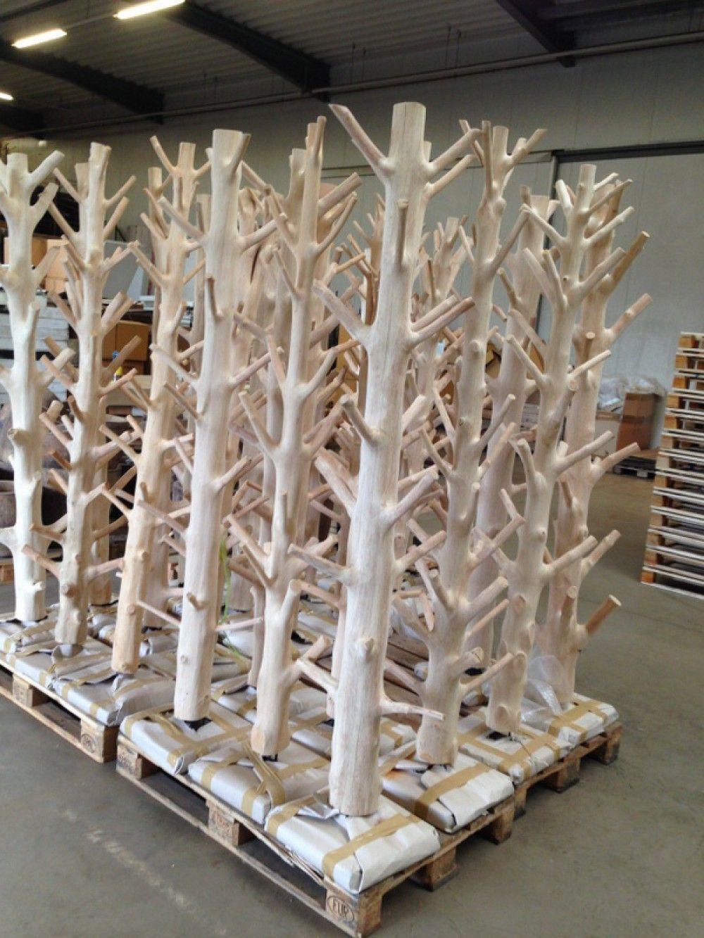 Wandgarderobe Baumstamm, Standgarderobe Aus Massivholz, Höhe 200 Cm    Garderoben U0026 Garderobenschränke   Landhaus