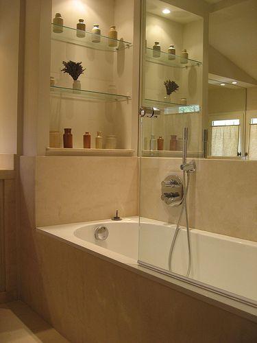 glass shelves bathroom ideas and bathtub | BATHROOMS | Pinterest ...