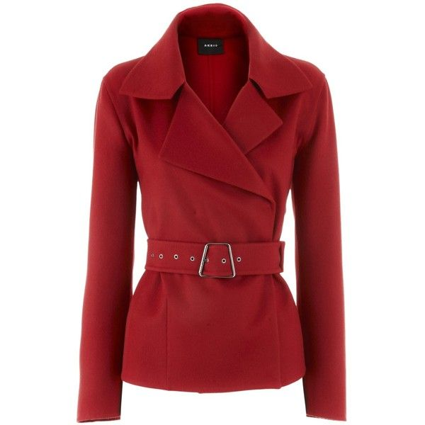 Akris Red Cashmere Jacket