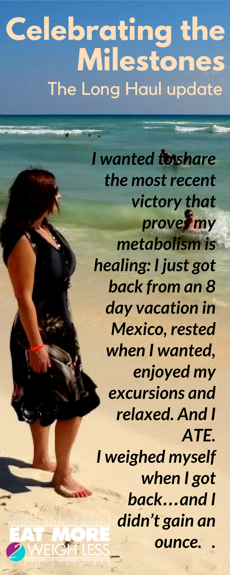 If you are like me, coming from a severe diet/exercise history, take your time and refeed your body. Watch for the milestones. You may need months of healing before you will see success at cut (which sucks-believe me, I know, but it may be necessary)…Just remember to celebrate the NSV milestones along the way because those are just as important and just as awesome. #metabolismreset #crushingthedietmentality