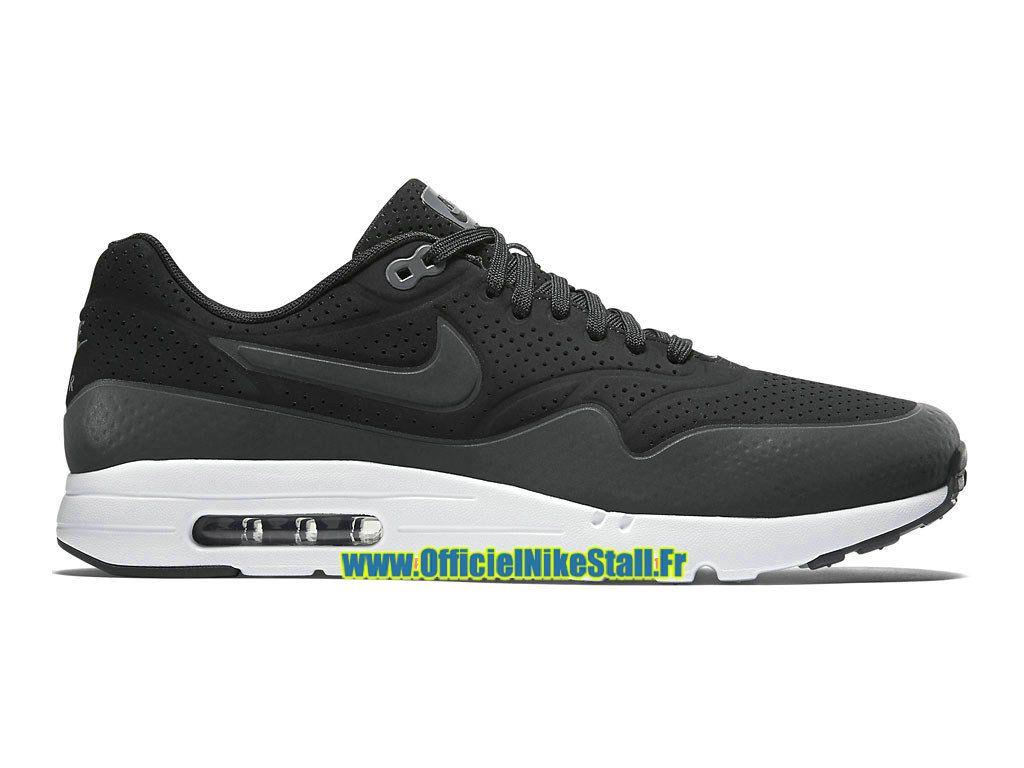 the latest 1618a fda09 Nike Air Max 1 Ultra Moire - Chaussure Nike Officiel Pas Cher Pour Homme  Noir Gris foncé-Blanc-Noir 705297-010