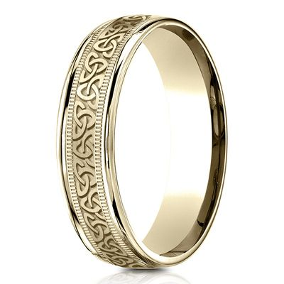 ... 9978e 985d9 Benchmark 6mm Comfort Fit Round Edge Celtic Knot Design  Band quality ... 63f6c26958d0
