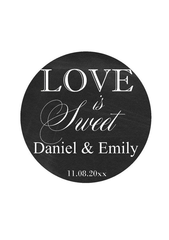 Wedding favor labels thank you stickers round by happypartydecor