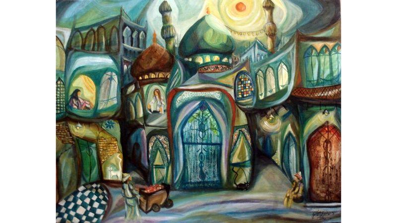 Iraq/Jordan - Iraqi painter, artist and academician Faruq al-Hashimi who has been living in Jordan since1995. Photo by Faiqah Rasul Sarhan (RFE/RL)