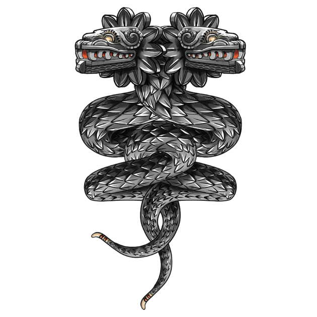 Black Ink Quetzalcoatl Tattoo On Full Sleeve By Spencer: T-Shirts, Quetzalcoatl ( Flying Snake...