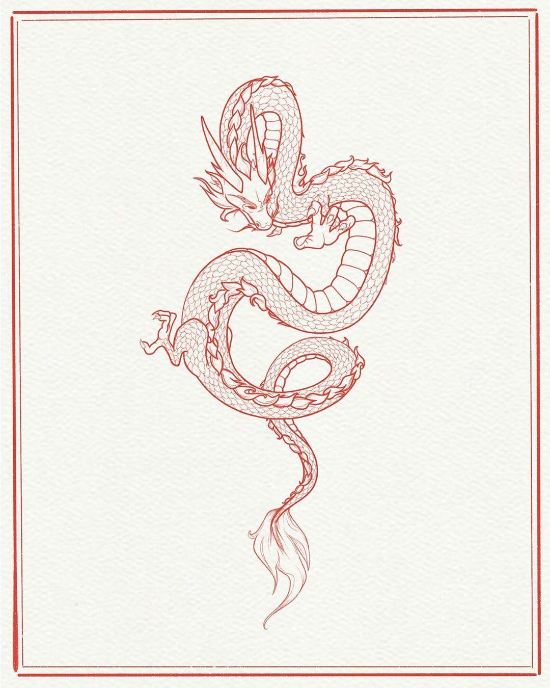"""Photo of después de Instagram 𝒜𝓃𝓃 𝒢𝒾𝓁𝒷𝑒𝓇𝑔: """"Yo quería dibujar un dragón desde siempre pero no lo hice porque"""