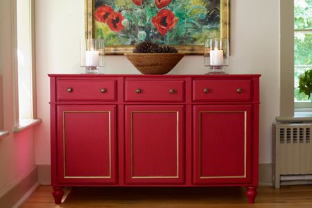 How to Build a Sideboard from Stock Cabinets Kommode rot, Möbel