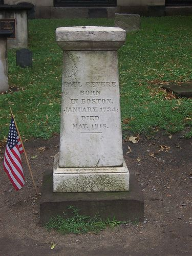 Paul Revere's Grave, Boston, MA | Gravely Famous | Famous