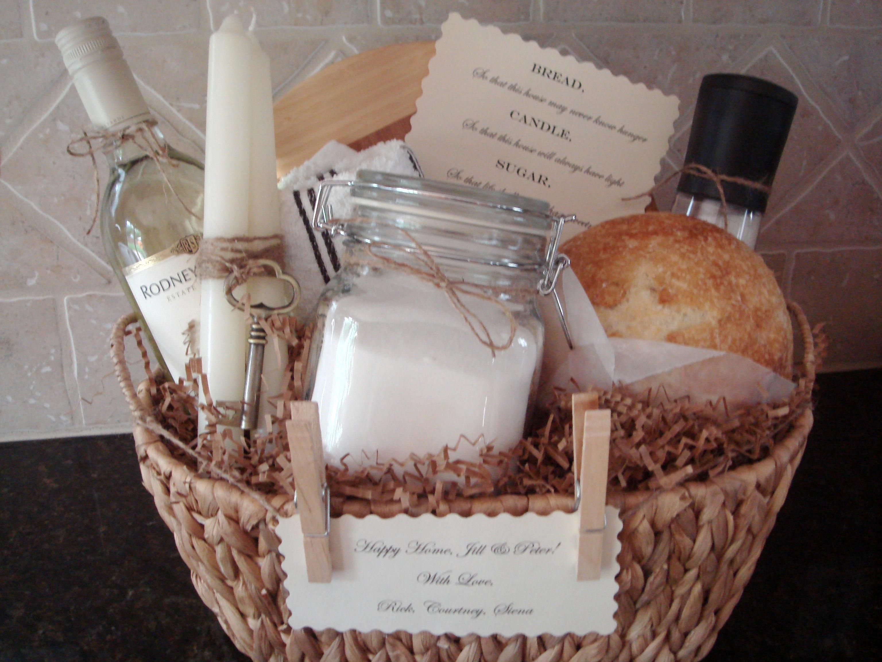 Traditional house warming gift basket by house of hubbard for Unique new home gifts