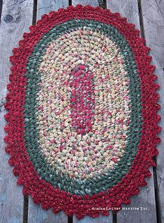 This Epattern Includes Crochet Oval Rag Rug Pattern Instructions Color Photos And Diagrams Make Beauti Crochet Rag Rug Vintage Crochet Patterns Rug Pattern
