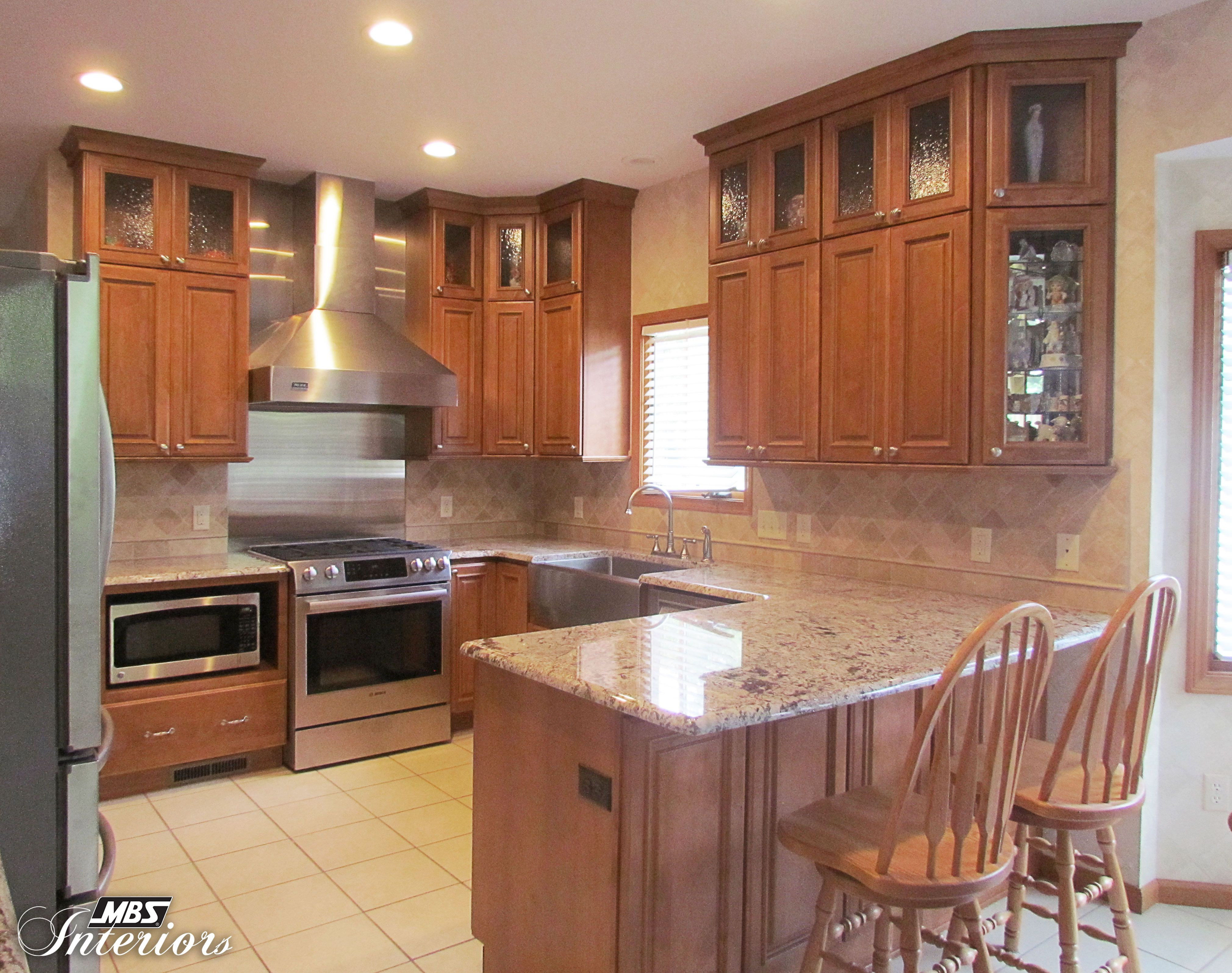 Maple Caramel Kitchen Brown Kitchen Cabinets Brown Kitchens Kitchen Cabinet Remodel