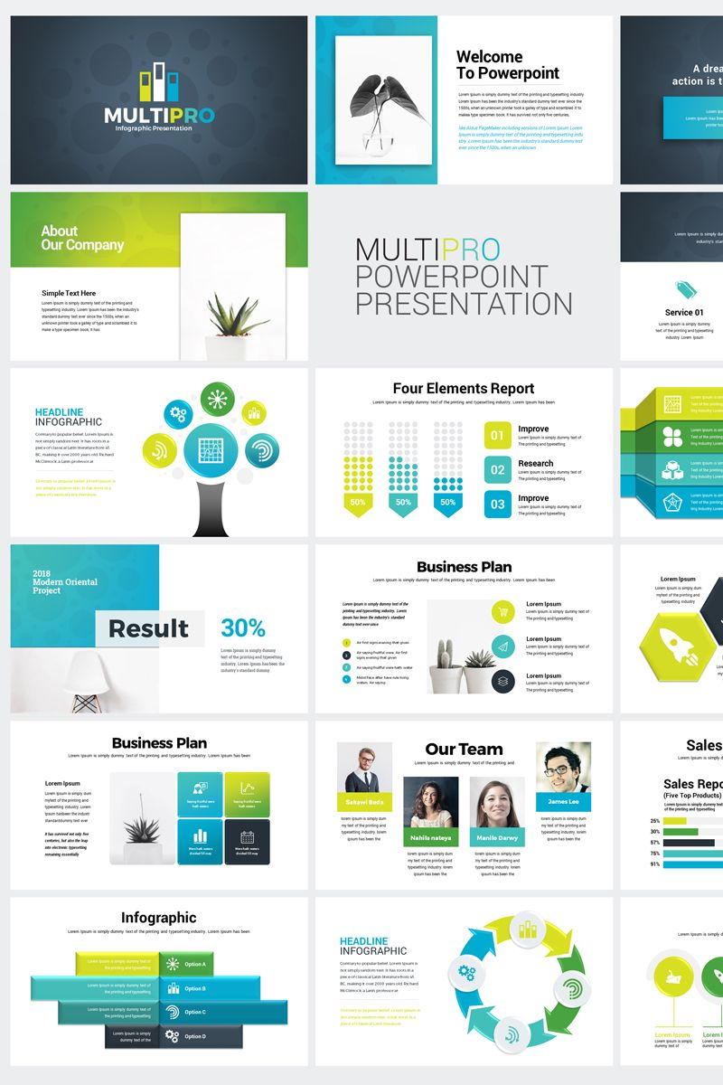 Business Infographic Presentation Powerpoint Template 76185