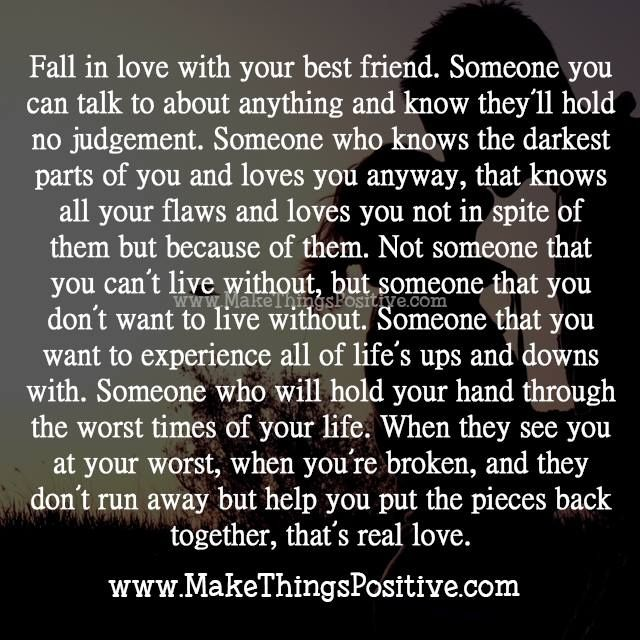 Quotes About Being In Love With Your Best Friend Fall In Love With Your Best Friend  Quotes  Pinterest  Verses And
