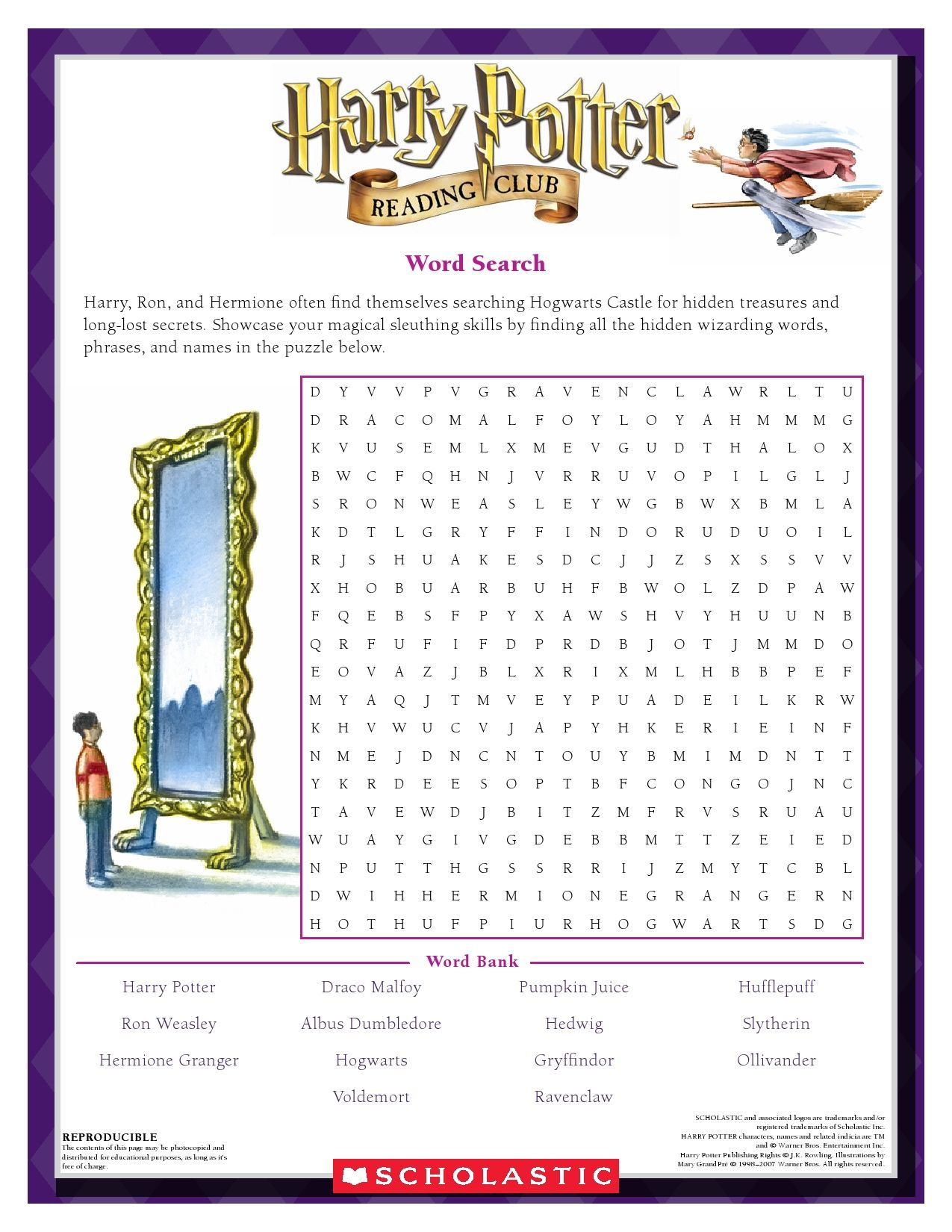 Harry Potter Vocabulary Worksheet