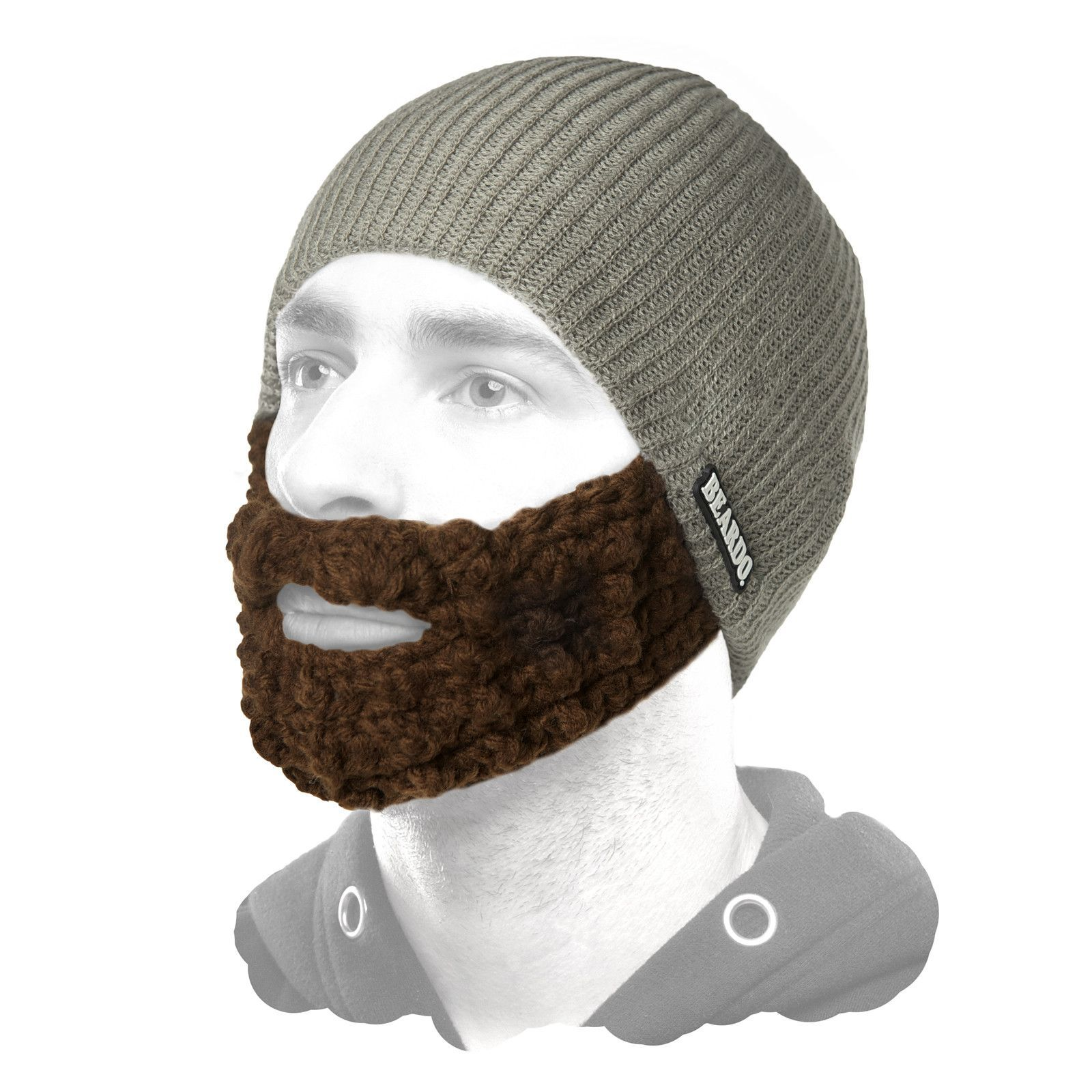 16d4a053658 Beard Hat Grey (Attached Brown)