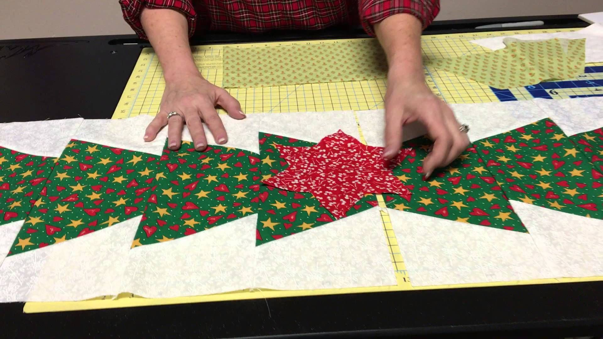 Half Hexie Templates & Christmas Tree Table Runner - YouTube ...