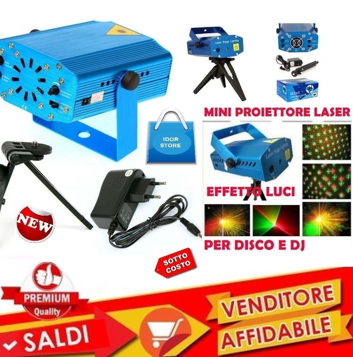 Mini Proiettore Effetto Luci Laser Per Disco Discoteca Dj.Mini Proiettore Laser Effetto Luci Per Disco E Dj Discoteca