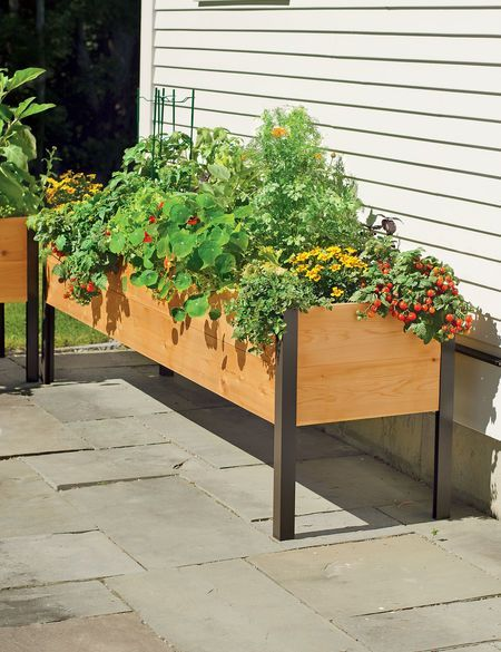 Planter Boxes: Elevated Cedar Planter Box | Orders $99+ Ship Free