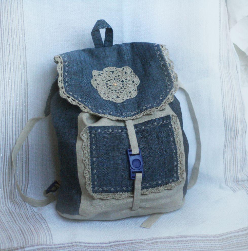 Льняная сумка с выкройками