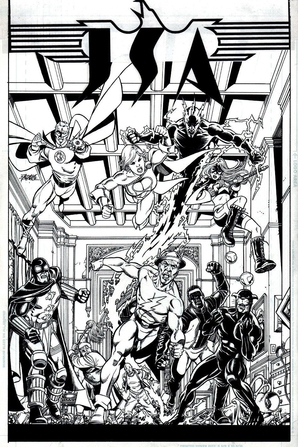 Comic Art For Sale from RomitaMan Original Art, JSA 84