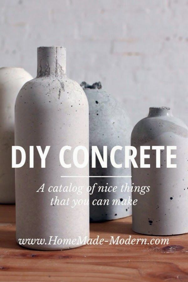 Diy Concrete Vase By Homemade Modern He Also Makes Light Pendants On Another Ideas Hogar