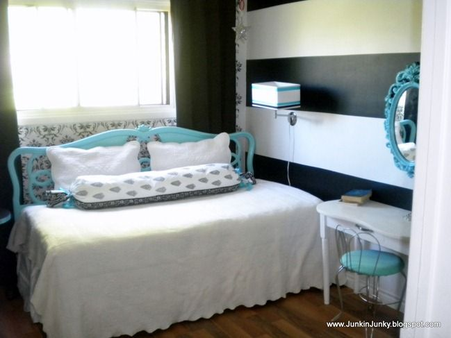 king headboard used on a twin bed queen